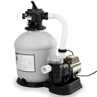 16 in. 200 sq. ft. Sand Filter with 3/4 HP 3100 GPH Above Ground Swimming Pool Pump