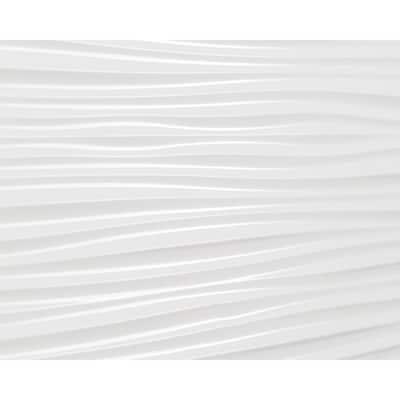 18.5'' x 24.3'' Wilderness Decorative 3D PVC Backsplash Panels in White 9-Pieces