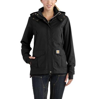 Women's Large Black Nylon Shoreline Jacket