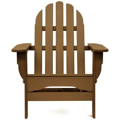 Icon Teak Plastic Folding Adirondack Chair