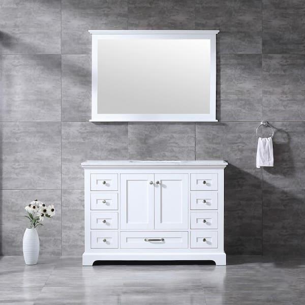 Lexora Dukes 48 Inch Single Bathroom, How Big Of A Mirror For 48 Inch Vanity