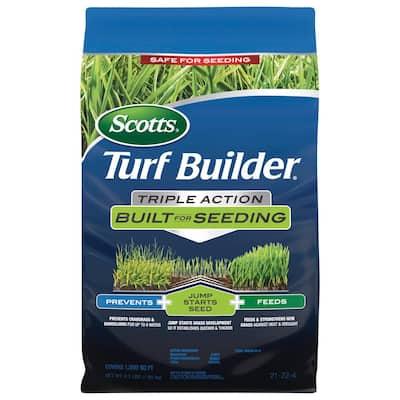 Turf Builder 4.3 lbs. 1,000 sq. ft. Triple Action Built for Seeding Lawn Fertilizer