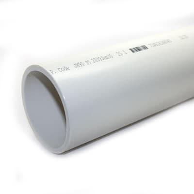 1-1/4 in. x 10 ft. PVC Sch. 40 DWV Plain-End Pipe