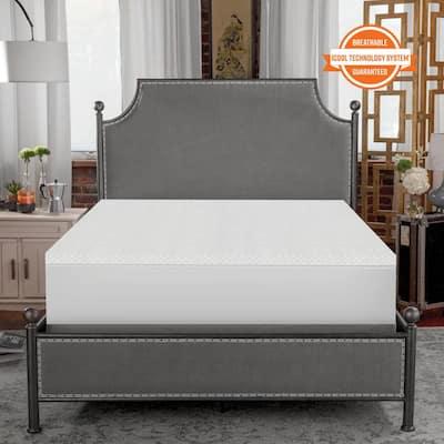 1.5 in. Coolest Comfort Memory Foam Mattress Topper Queen