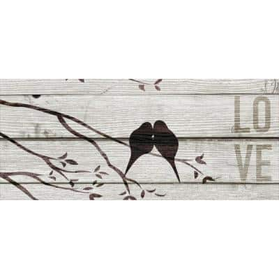 20 in. H x 8 in. W Love Birds Canvas Print Unframed Canvas Wall Art