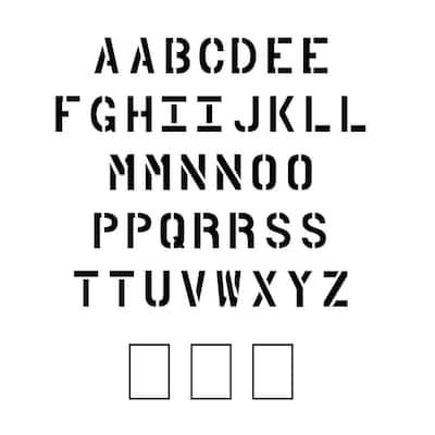 12 in. Parking Lot Alphabet Set