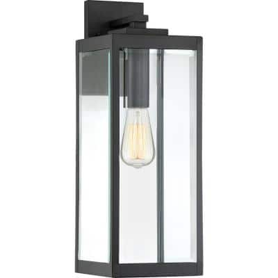 Westover 1-Light Earth Black Outdoor Wall Lantern Sconce