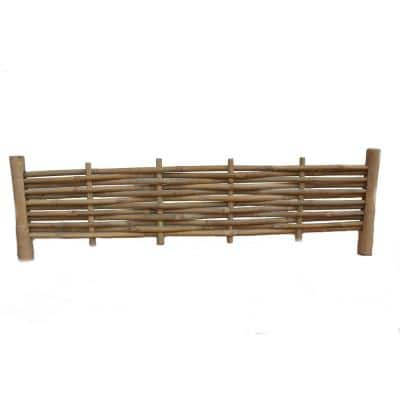 48 in. x 14 in. Woven Brown Bamboo Edging