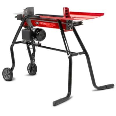 120-Volt 5-Ton 15 Amp Electric Log Splitter with Stand