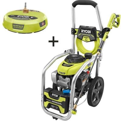 3300 PSI 2.3 GPM Honda GCV190 Gas Pressure Washer with Idle Down and 15 in. Surface Cleaner