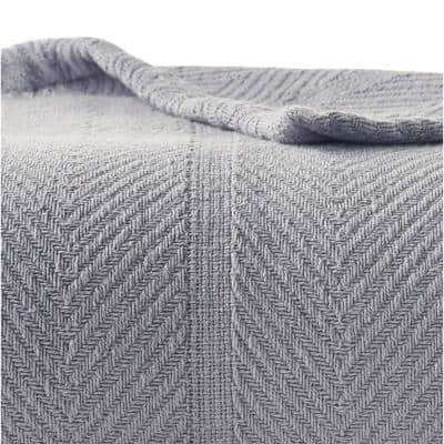 Solid Cotton Woven Blanket