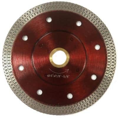 5 in. Super Thin Mesh Rim Diamond Blades for Cutting Tiles