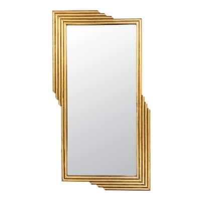 Trenla 26.5 in. X 48 in. Gold Foil Framed Mirror