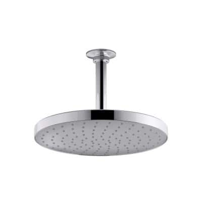 Awaken Rainhead 1-Spray 9.9 in. Single Ceiling Mount Fixed Rain Shower Head in Polished Chrome
