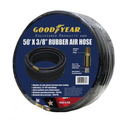 3/8 in. x 50 ft. Black Rubber Air Hose