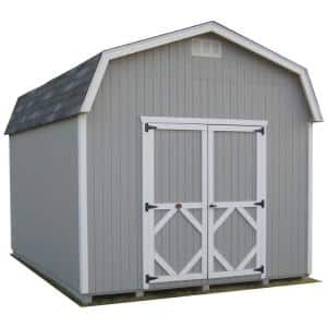 Classic Gambrel 10 ft. x 12 ft. Wood Storage Building Precut Kit with 6 ft. Sidewalls with Floor