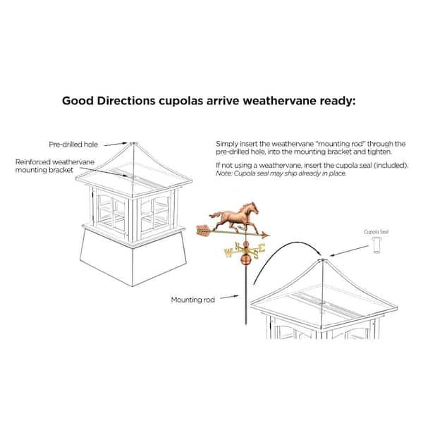 Trademark Innovations Weathervane Extension Bracket Mount Rod