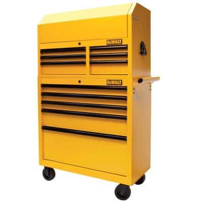 36 in. 11-Drawer Metal Rolling Tool Chest and Cabinet Combo