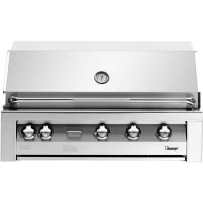 42 in. Built-In Natural Gas Grill in Stainless with Sear Zone
