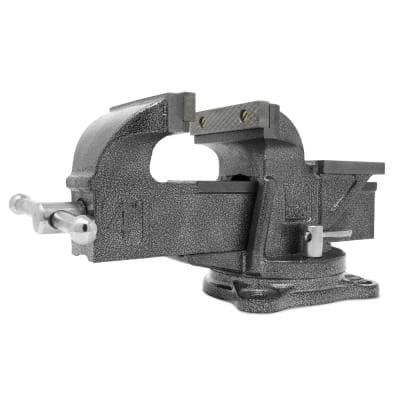 4 in. Heavy-Duty Cast Iron Bench Vise with Swivel Base