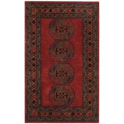 Heritage Red 3 ft. x 5 ft. Area Rug
