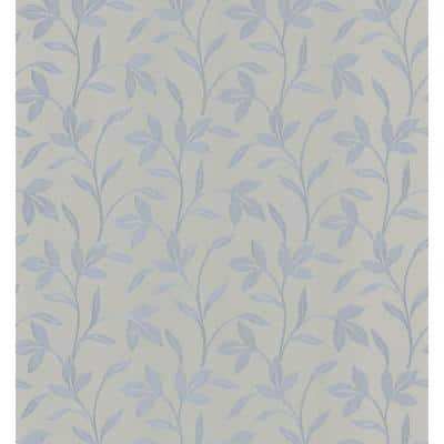 Flora Grey Trailing Leaves Paper Strippable Roll Wallpaper (Covers 56.4 sq. ft.)