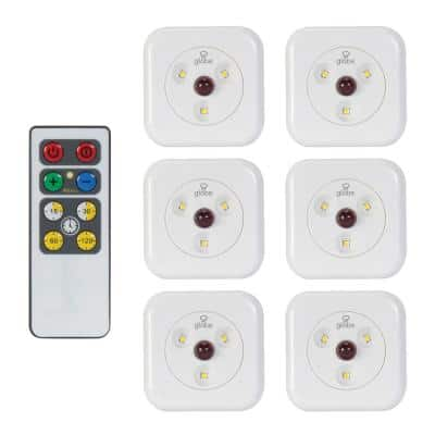 LED White Under Cabinet Puck (6-Pack)