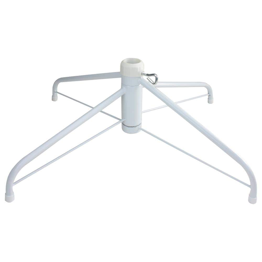 Northlight White Metal Christmas Tree Stand For 6 5 Ft To 7 5 Ft Artificial Trees 33388986 The Home Depot