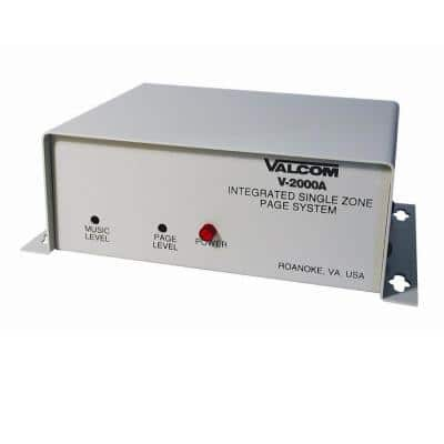 1 Zone 1-Way Page Control with Power Supply