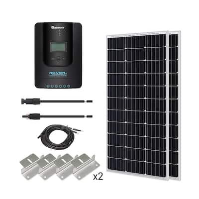 200-Watt 12-Volt Monocrystalline Solar Starter Kit with 40 Amp Rover MPPT Charge Controller