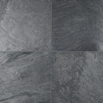 Take Home Tile Sample - Ostrich Grey 6 in. x 6 in. Honed Quartzite Floor and Wall Tile