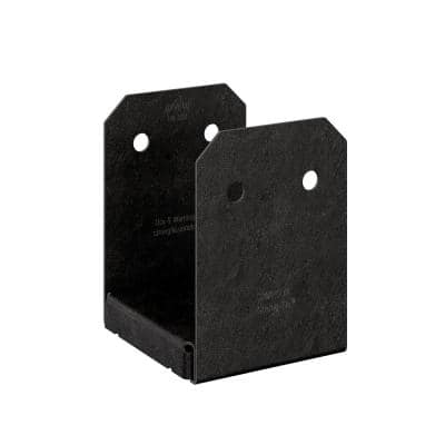Outdoor Accents Avant Collection ZMAX, Black Powder-Coated Post Base for 6x6 Nominal Lumber