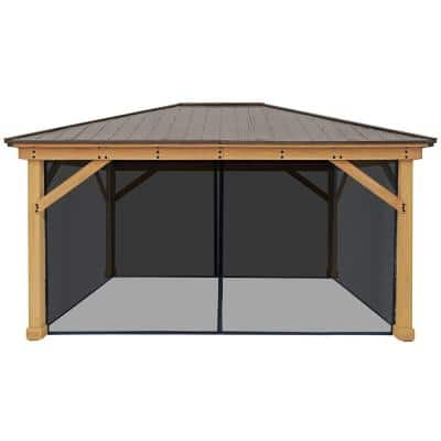 Mosquito Mesh Kit for 12 ft. x 16 ft. Meridian Gazebo