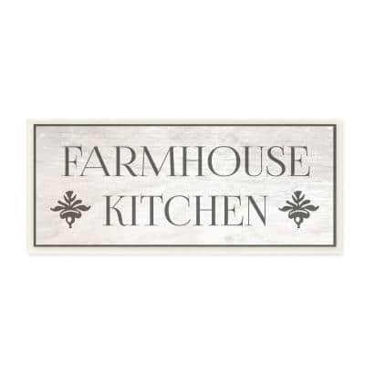 """7 in. x 17 in. """"Farmhouse Kitchen Typography"""" by Daphne Polselli Printed Wood Wall Art"""