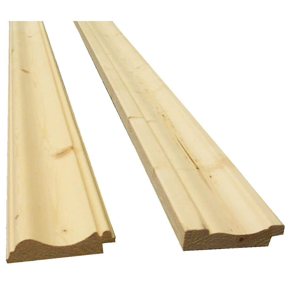 11 16 In X 2 11 16 In X 96 In Knotty Pine Bead Board Trim Kit 2 Piece 8203105 The Home Depot