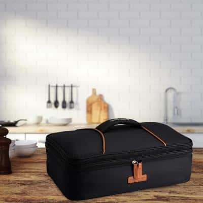 Black Casserole Lunch Bag Plus 120 Volt