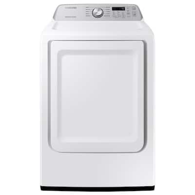 7.4 cu. ft. 120-Volt White Gas Dryer with Sensor Dry