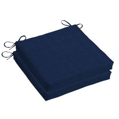 Woodbury 18 x 18 Sunbrella Spectrum Indigo Outdoor Dining Chair Cushion (2-Pack)