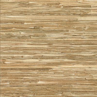Meho Neutral Grasscloth Non-Pasted Wallpaper Roll (Covers 72 Sq. Ft.)