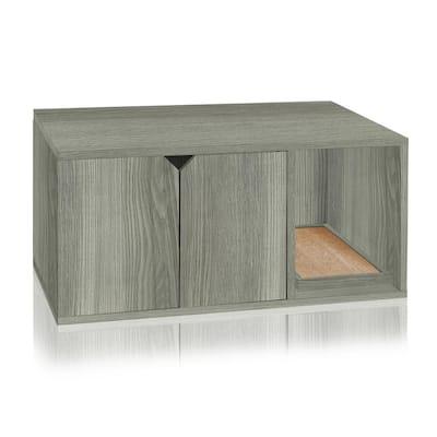Eco zBoard Grey Modern Cat Litter Box Enclosure Furniture