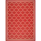 Courtyard Red/Beige 4 ft. x 6 ft. Indoor/Outdoor Area Rug