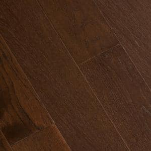 Wire Brushed Benson Hickory 3/8 in. T x 5 in. W x Varying Length Click Lock Hardwood Flooring (19.686 sq. ft. / case)