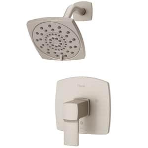 Deckard 1-Handle Shower Faucet Trim Kit in Brushed Nickel (Valve Not Included)