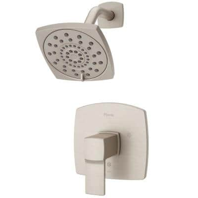 Deckard 1-Handle Shower Faucet Trim Kit in Brushed Nickel (Valve Not Included)