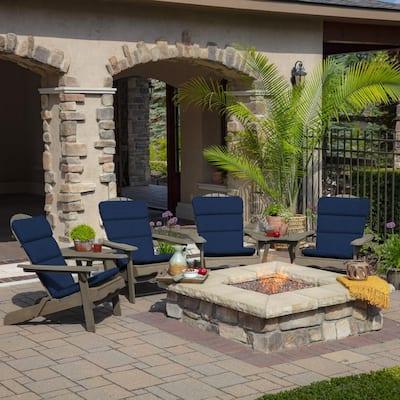 20 x 45.5 Sapphire Leala Texture Outdoor Adirondack Chair Cushion
