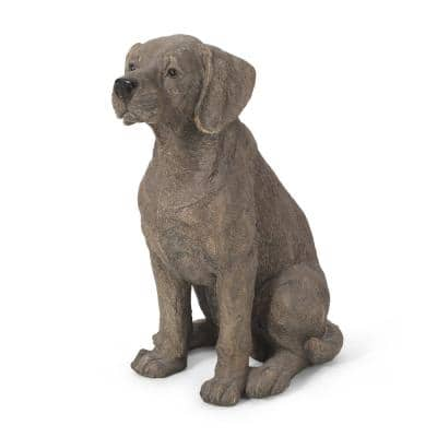 Caine 15.75 in. Outdoor Dog Garden Statue