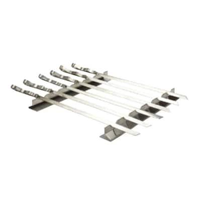 Stainless Steel Kabob Rack with 6 Skewers