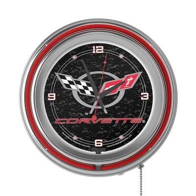 14 in. Black Corvette C5 Neon Wall Clock