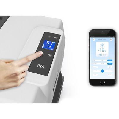 LiONCooler 52 Qt. Battery Powered Portable Chest Fridge Freezer Cooler w/10+ Hour Run Time, Recharge Using Solar/DC/AC