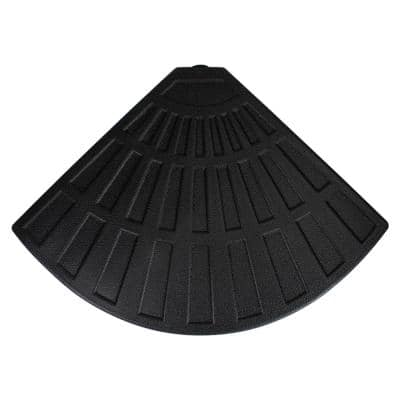 26 lbs. Fan Shaped Resin Base Stand for Off-Set Umbrella in Black